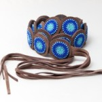 beaded belt blue
