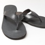 mens plain leather sandle
