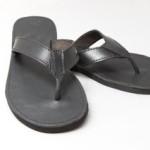 mens plain leather sandle